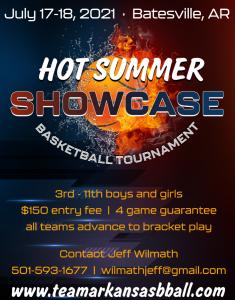 Hot Summer Showcase Basketball Tournament @ Batesville Community Center | Searcy | Arkansas | United States