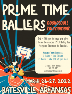 Prime Time Baller's Basketball Tournament @ Batesville Community Center | Searcy | Arkansas | United States